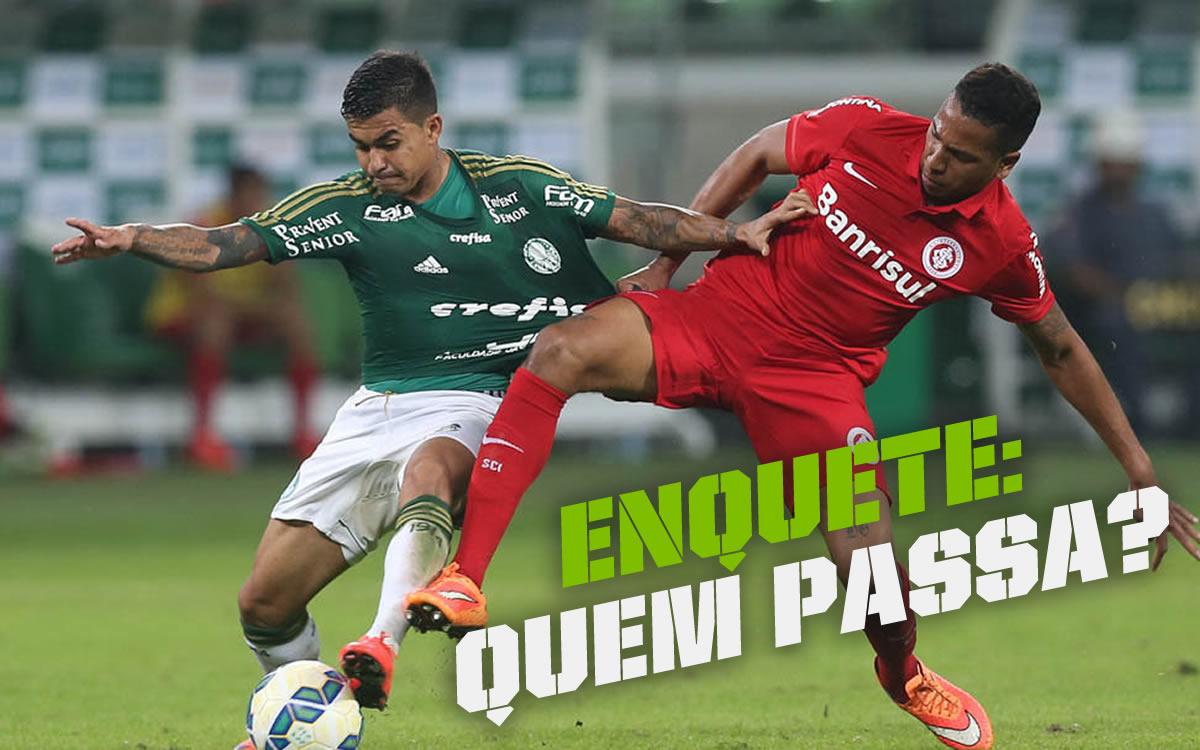 Enquete: Palmeiras x Internacional, existe um favorito para avançar para as semis?