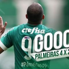 Gols: Palmeiras 4 x 2 Flamengo