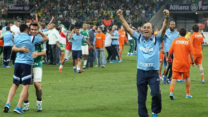 Marcelo Oliveira: um semestre de trabalho e o primeiro título à frente do Verdão. (Cesar Greco/Ag.Palmeiras/Divulgação)
