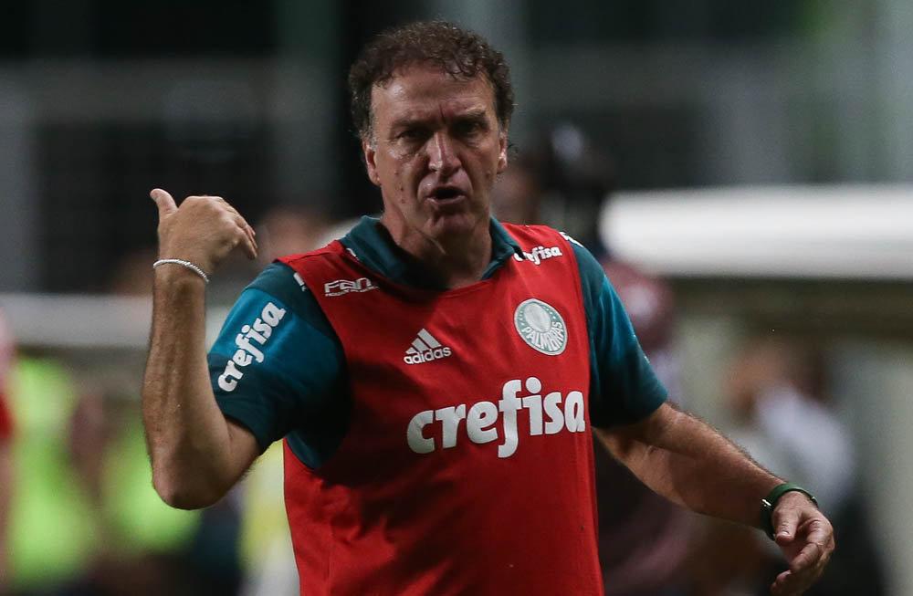 Cuca elogiou atuação do time palmeirense após empate com Atlético-MG. (Cesar Greco/Ag.Palmeiras/Divulgação)