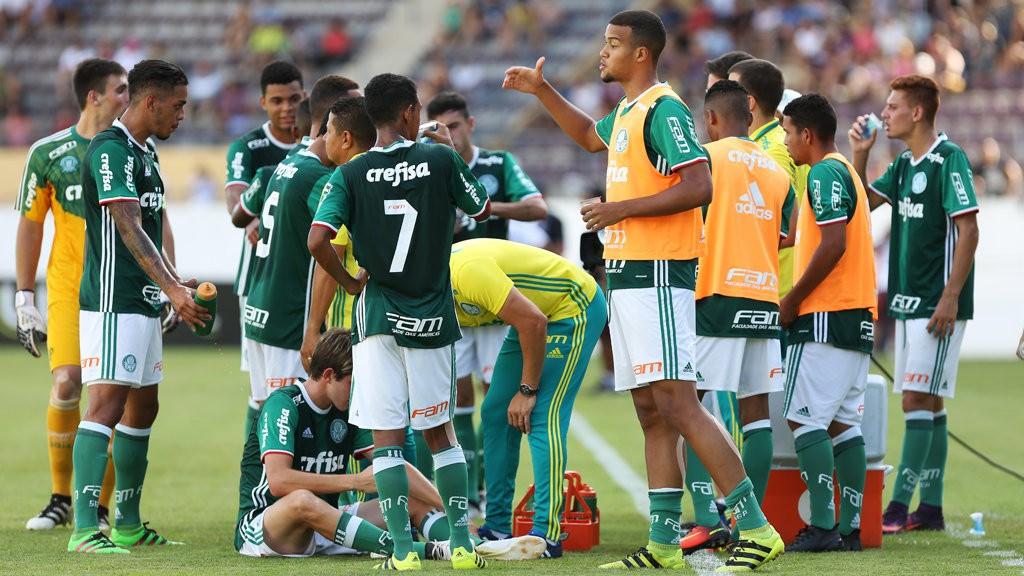 Com duas vitórias e um empate, o Verdão terminou a primeira fase da Copinha invicto. (Fabio Menotti/Ag Palmeiras/Divulgação)