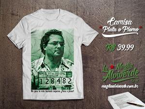 Compre a camisa Plata o Plomo, uma homenagem do Maglia Alviverde.