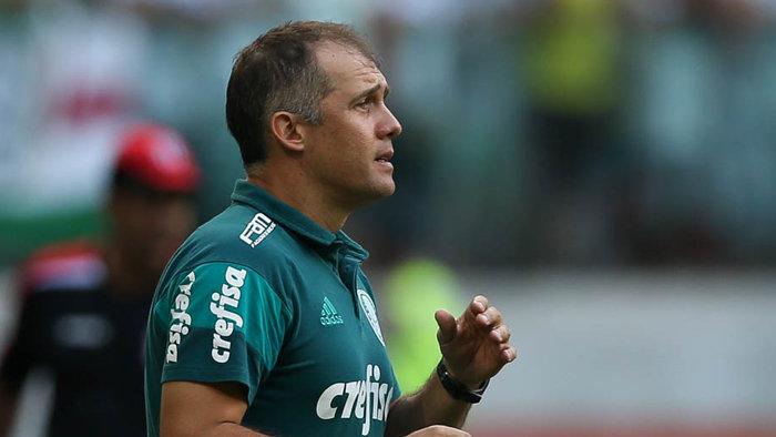'Criamos chances pela movimentação', disse Eduardo Baptista após a vitória contra o Linense. (Cesar Greco/Ag Palmeiras/Divulgação)