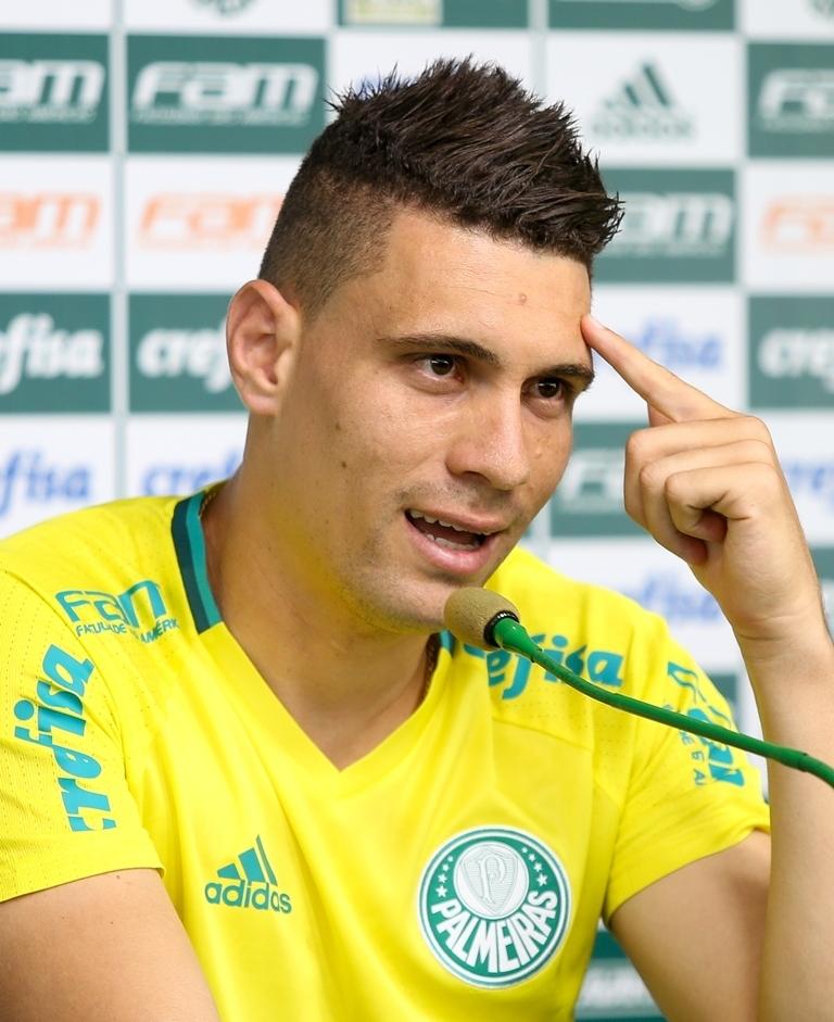 Moisés tem 39 partidas e quatro gols pelo Verdão. (Fabio Menotti/Ag. Palmeiras/Divulgação)