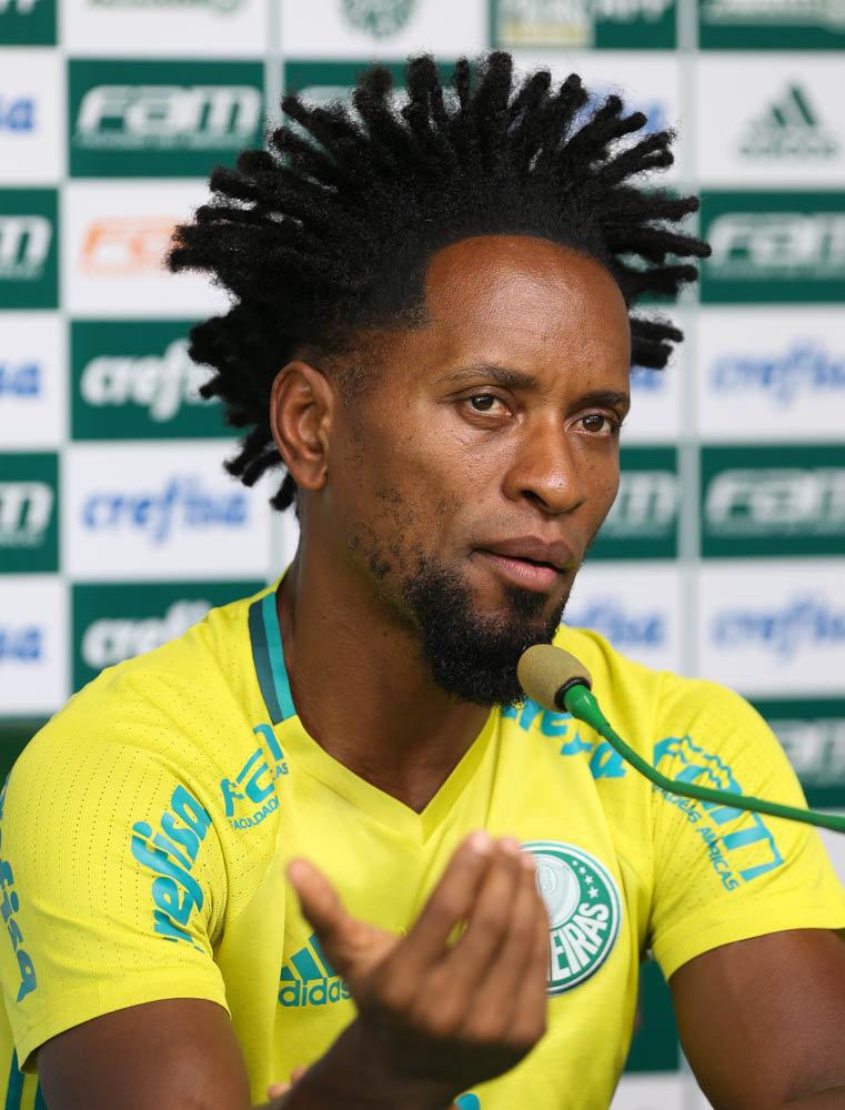 Zé Roberto completou 100 jogos pelo Verdão na partida do último domingo (05), contra o Botafogo-SP. (Cesar Greco/Ag Palmeiras/Divulgação)