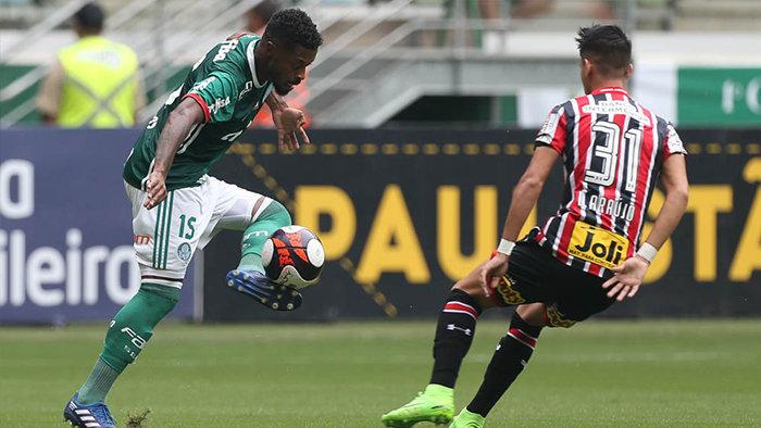 Michel coleciona nove jogos pelo Verdão. (Cesar Greco/Ag. Palmeiras/Divulgação)