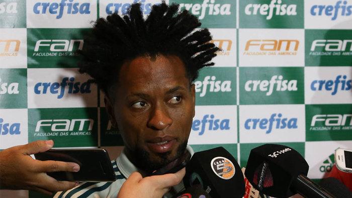 Zé Roberto concedeu entrevista coletiva nesta terça (07), em Tucumán. (Cesar Greco/Ag.Palmeiras/Divulgação)