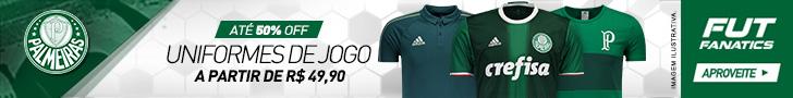 Uniformes de jogo do Palmeiras a partir de R$ 49,90 na FutFanatics. Aproveite!