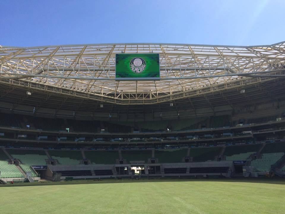 Palmeiras enfrentará o Peñarol no novo gramado do Allianz Parque. (Divulgação/Allianz Parque)