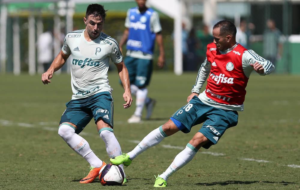 Guerra trabalhou normalmente com os companheiros. (Cesar Greco/Ag. Palmeiras/Divulgação)