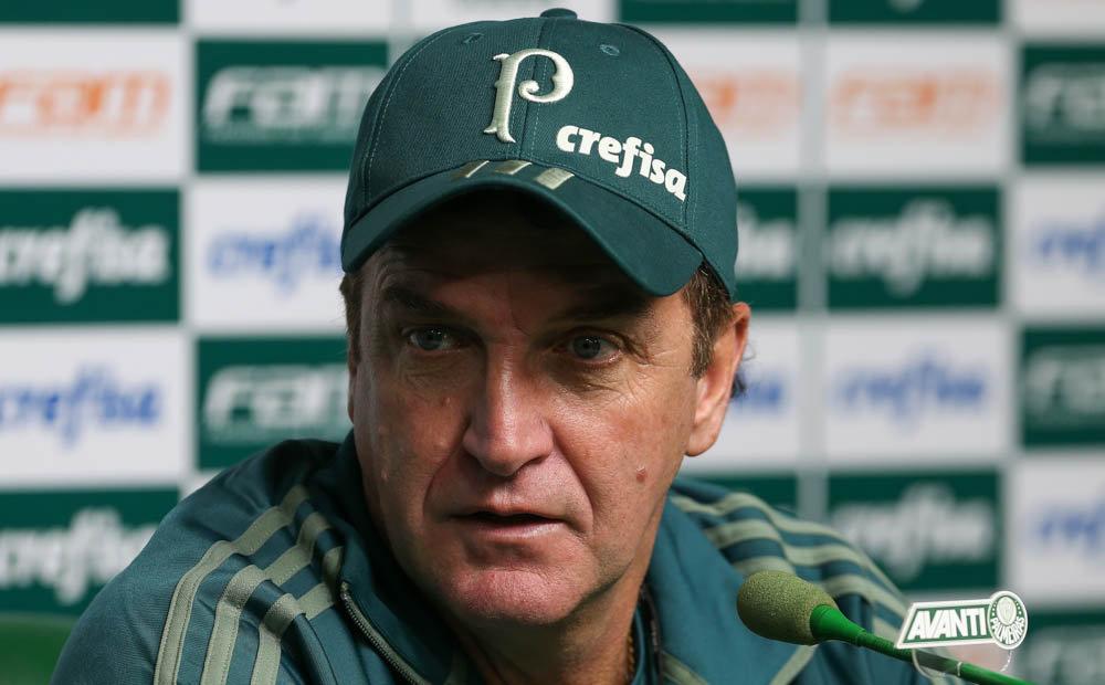 Técnico Cuca está de volta e reestreia diante do Vasco. (Cesar Greco/Ag Palmeiras/Divulgação)