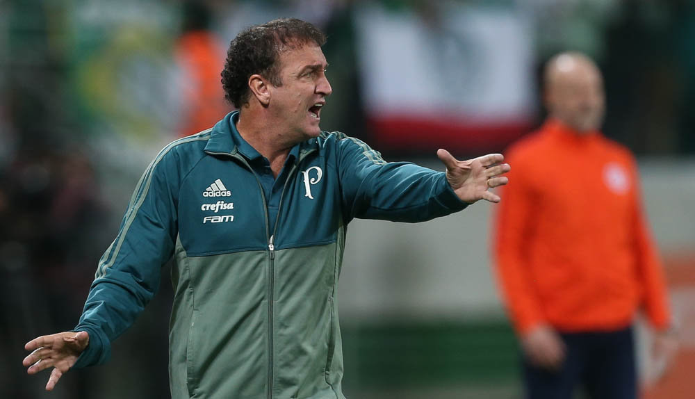 Cuca elogiou o rival e enalteceu a vantagem alviverde nas oitavas. (Cesar Greco/Ag. Palmeiras/Divulgação)