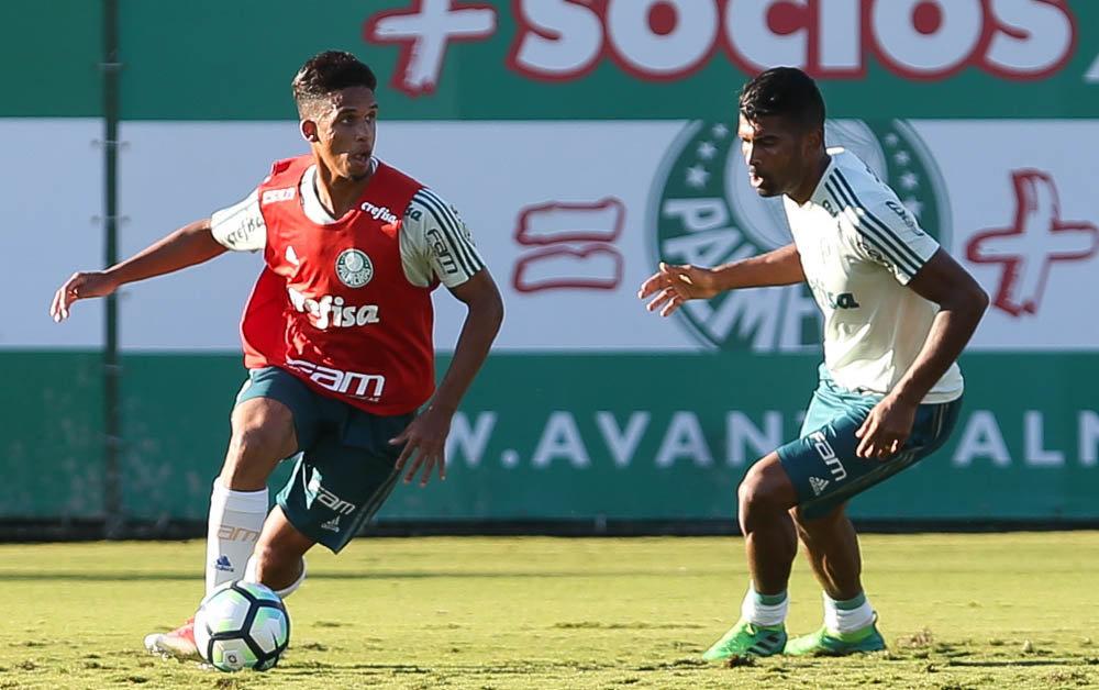 Os reservas realizaram uma atividade técnica contra a equipe Sub-20. (Cesar Greco/Ag. Palmeiras/Divulgação)
