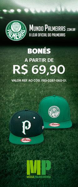 Linha oficial de Bonés do Palmeiras a partir de R$ 69,90