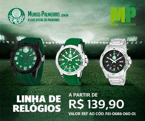 Linha oficial de Relógios do Palmeiras a partir de R$ 139,90